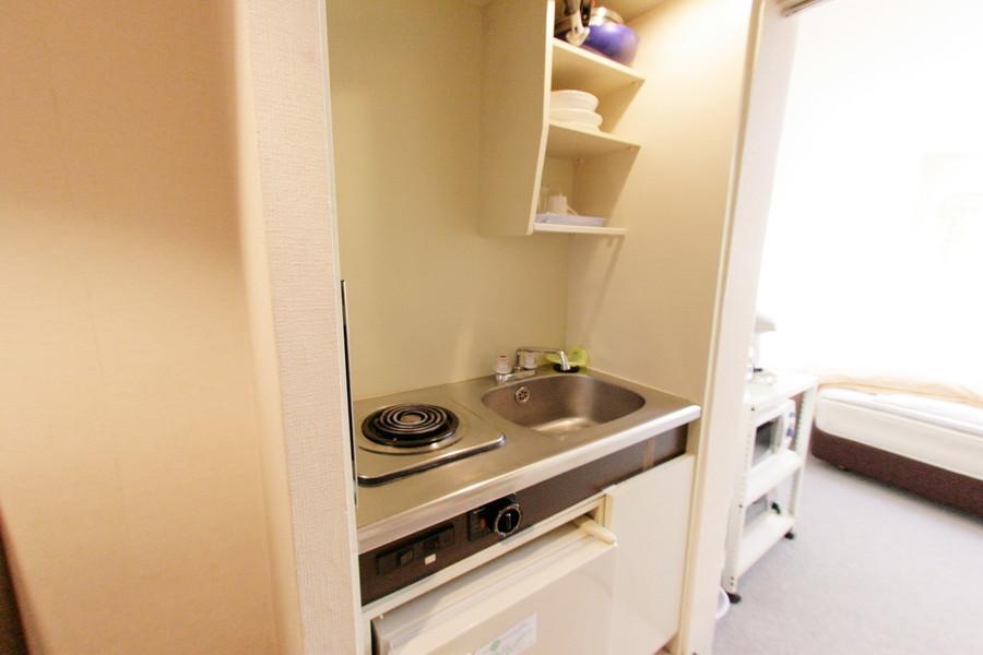 コンパクトかつ使いやすいキッチン