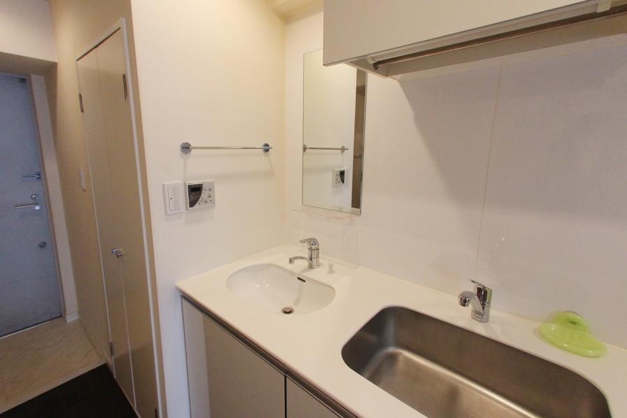 きれいで使い心地の良い洗面台