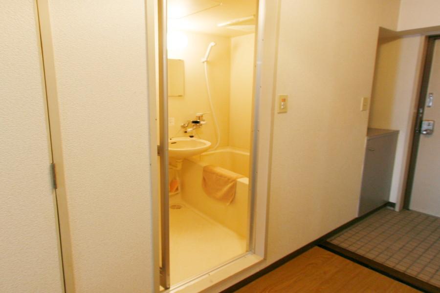 洗い場も広めのバスルーム