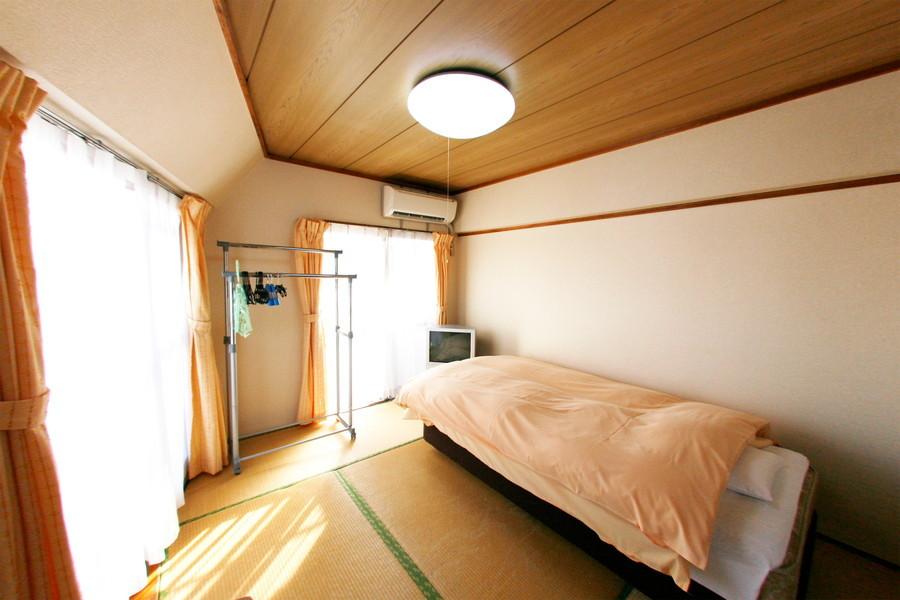 和室も大きな2面窓を採用。こちらもしっかりと陽が入ります
