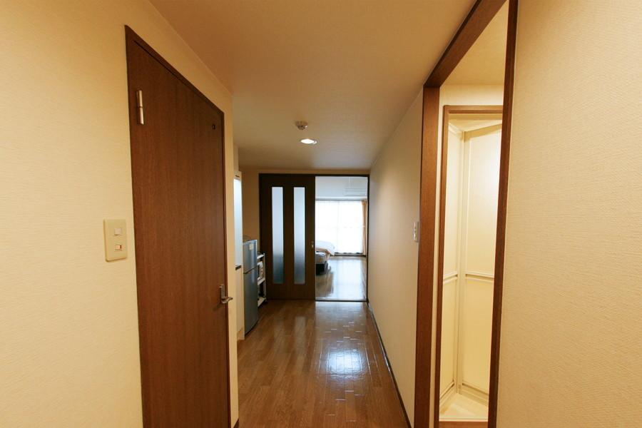 お部屋だけでなく入口もゆとりを持った作りになっています