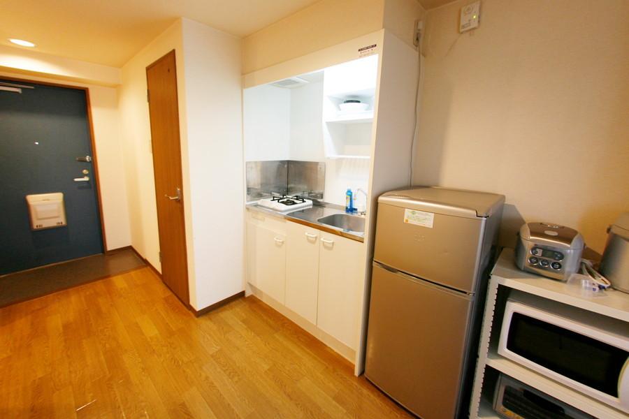 キッチン周りも充分な広さ。お料理もらくらく快適