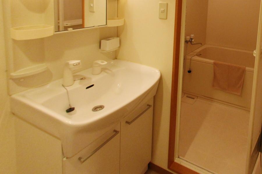 洗面台はシャンプードレッサータイプ。毎日の身だしなみに!