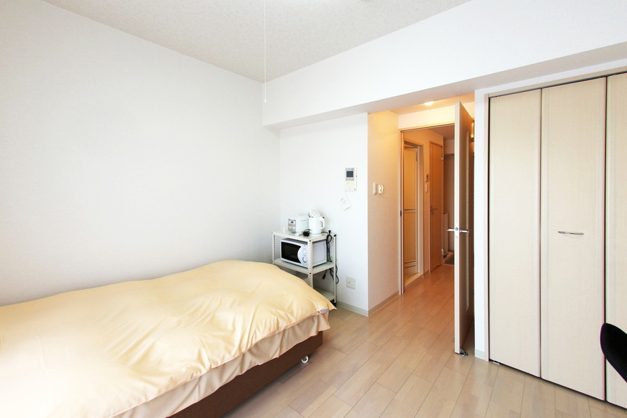 部屋の広さはもちろん収納スペースもしっかり確保されています