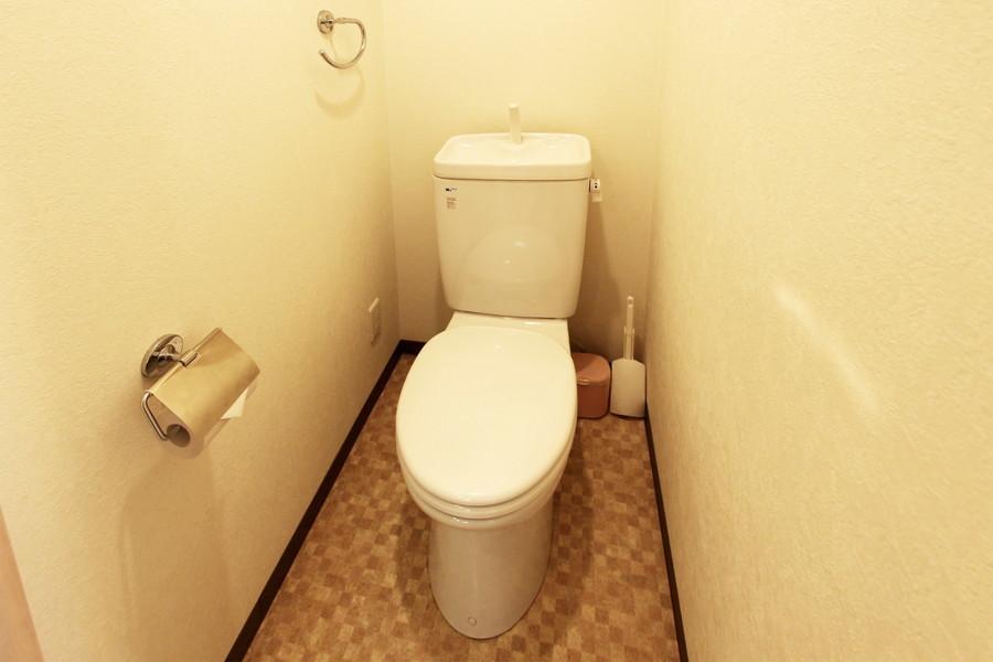 落ち着いた色合いで清潔感のあるお手洗い
