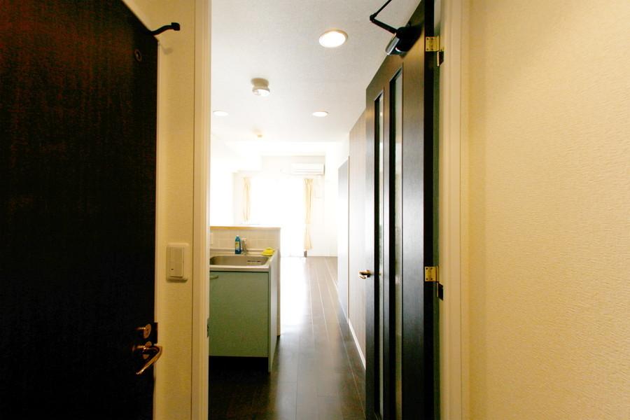 入口からお部屋までは段差がなく足元も安心です