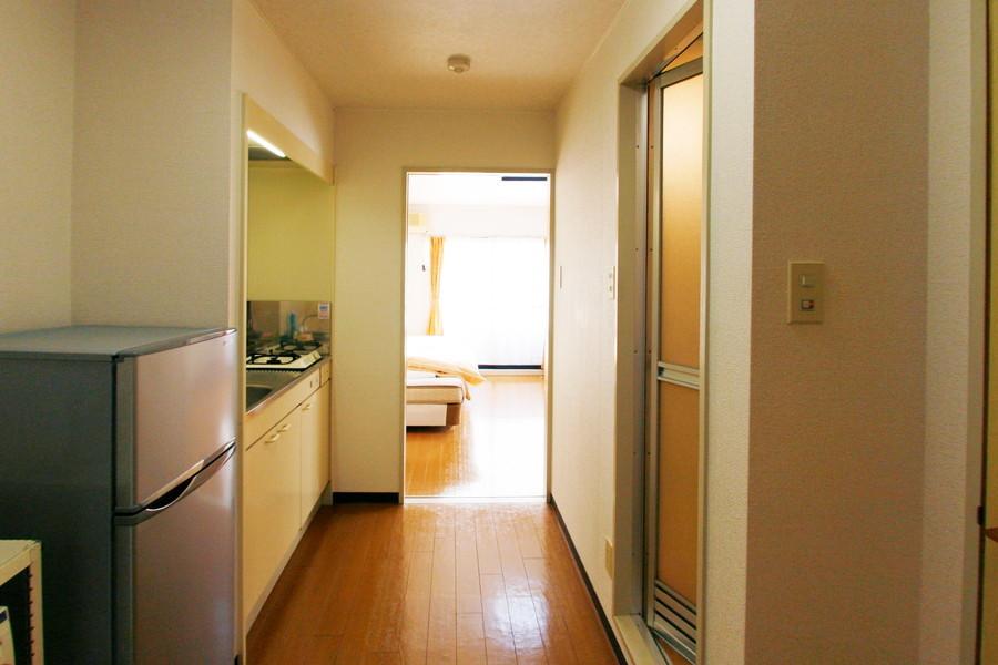 お部屋との間には扉が設けられているため目隠しとしてもご利用いただけます