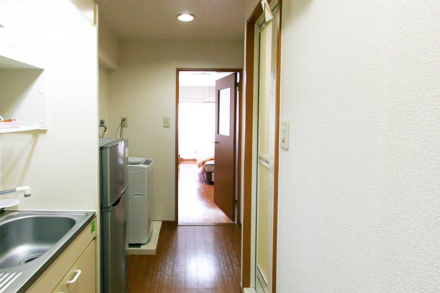 キッチンの廊下は2畳タイプ。狭くて動きづらい心配もありません