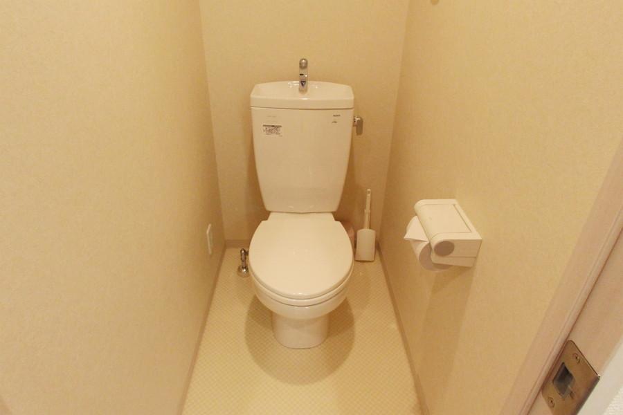 バストイレ別で衛生面も安心です