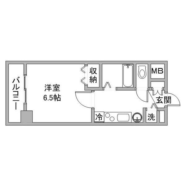 クラステイ名古屋駅7の間取り
