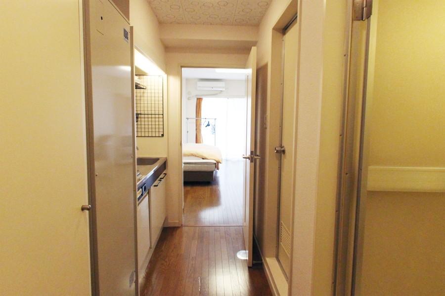 廊下も室内と同じ内装で統一感があります