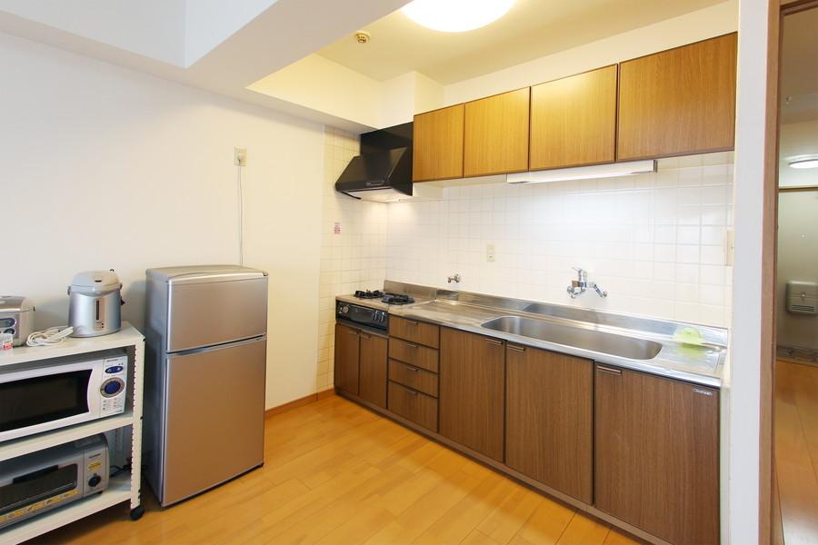 驚きの収納力と広さのキッチン。お料理好きの方もきっとご満足いただけます!