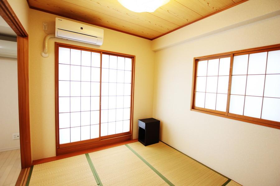 同じくリビング隣には日本人の心を感じさせる和室をご用意