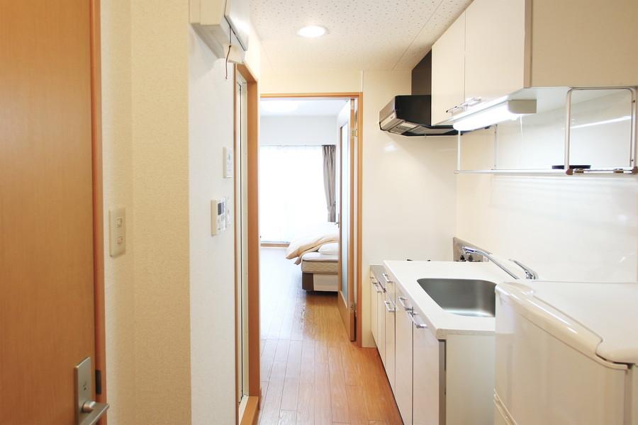 お部屋と廊下の間は段差がなくフラット。足元も安心です
