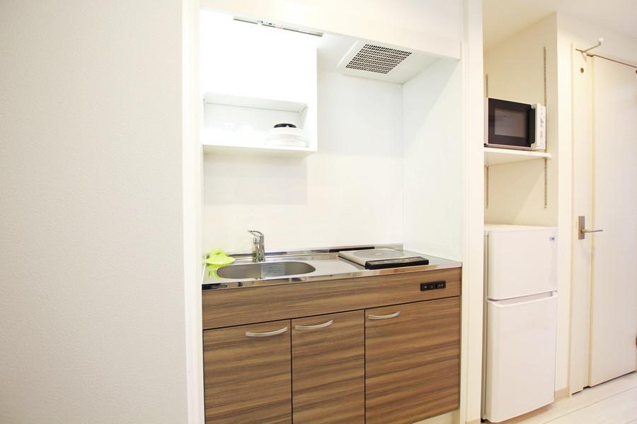 家電類は使いやすくキッチン周辺にまとめて配置されています