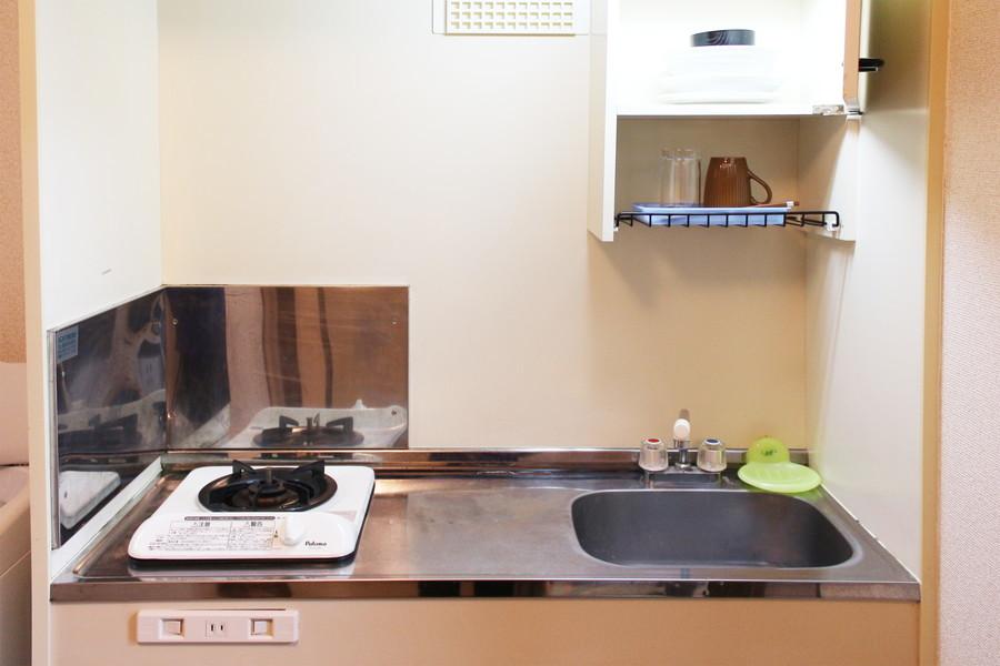 コンパクトキッチンは使いやすく便利なガスコンロタイプ