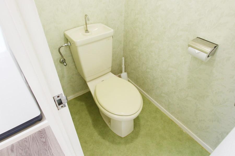 衛生面が気になるトイレもセパレートタイプで安心ですね