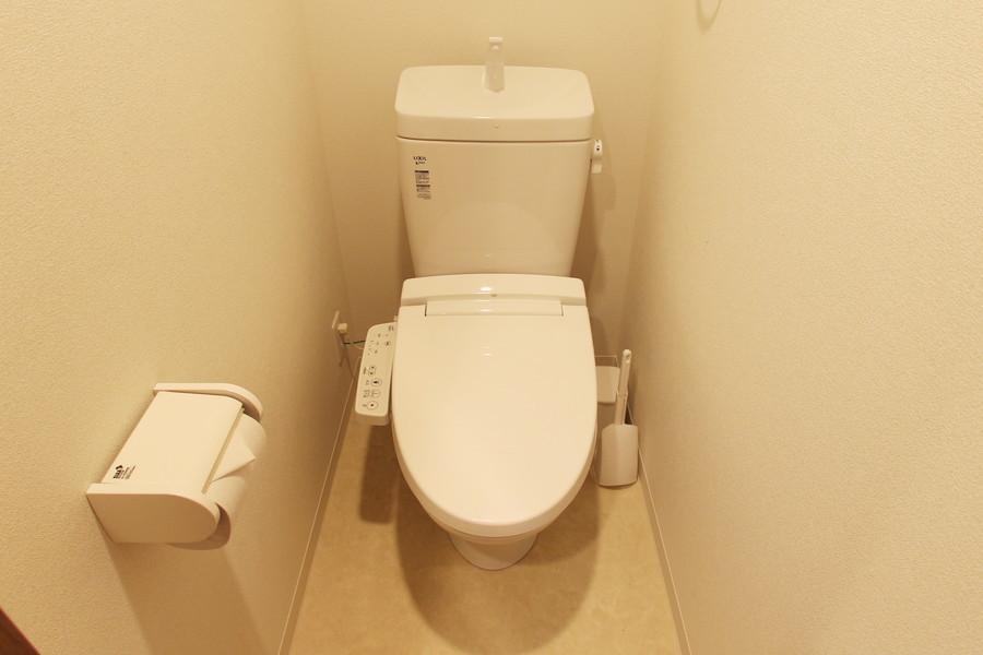 清潔感のあるトイレにはウォシュレットを完備しています