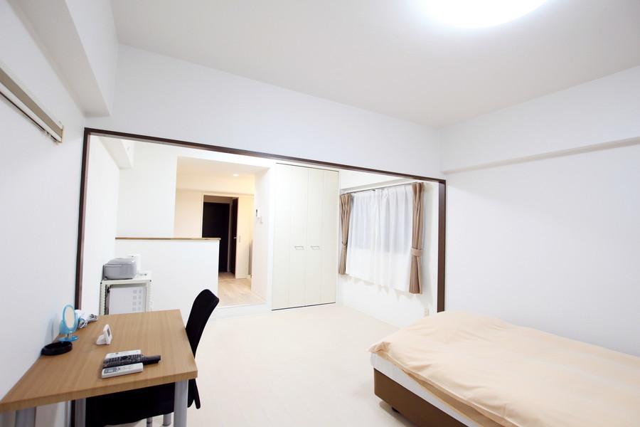 収納スペースも設けられているため広いお部屋をより有効にお使いいただけます