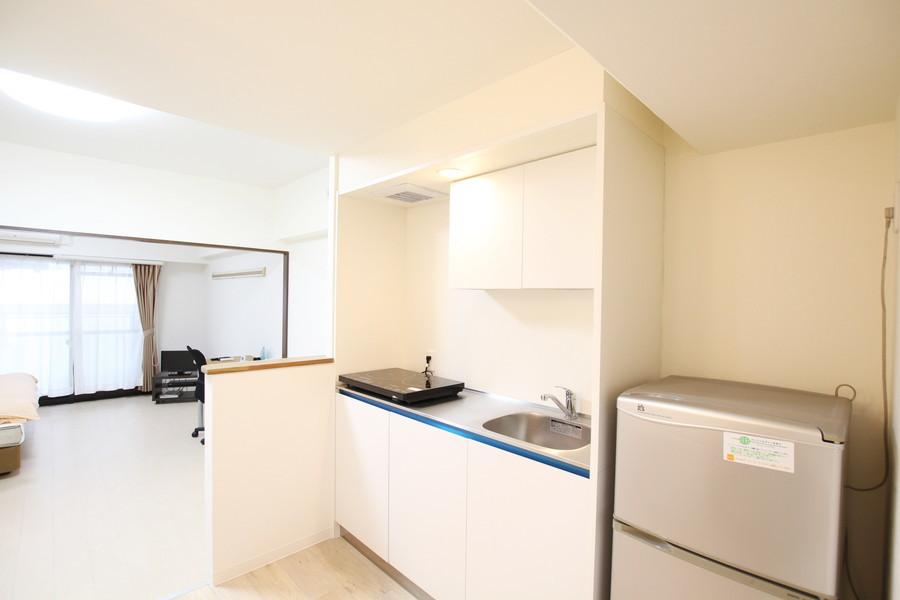 キッチンは広々スペース。動きにくい、料理がしにくいといった不安もありません