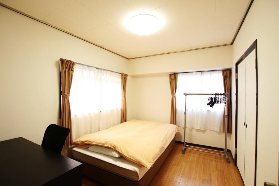 お部屋は全部で3室。押入れ収納は2部屋に設置されています