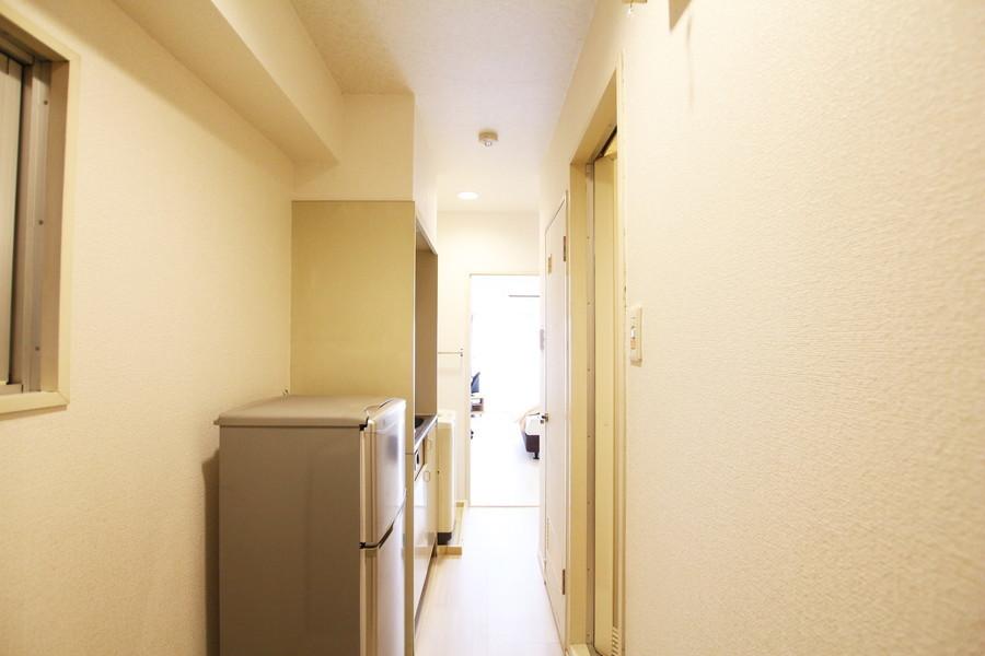 廊下もお部屋と同じく明るい雰囲気