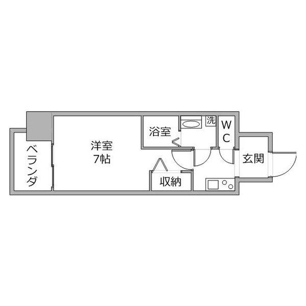 【カケコミ割】クラステイ名古屋駅東2の間取り
