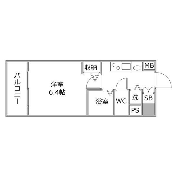 クラステイ名古屋駅12の間取り