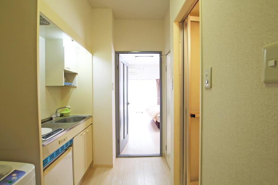 お部屋と同じ白を基調とし、清潔感と統一感が感じられます