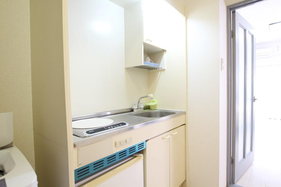 使いやすくまとめられたキッチン。使いやすいIHコンロ搭載です