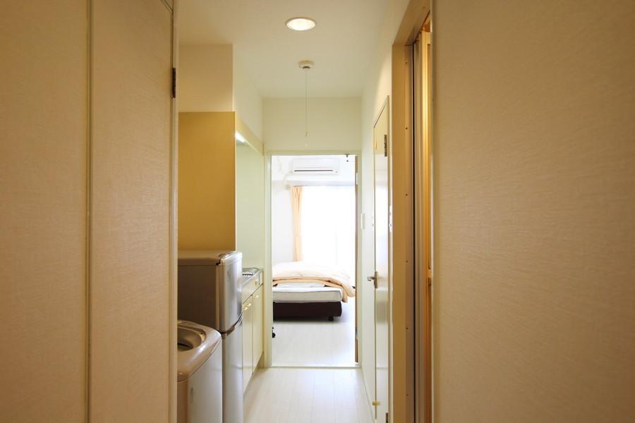 室内と同じく白を基調にしたカラーリングで統一感があります