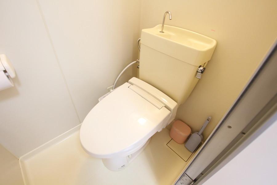 お手洗いは人気のシャワートイレ