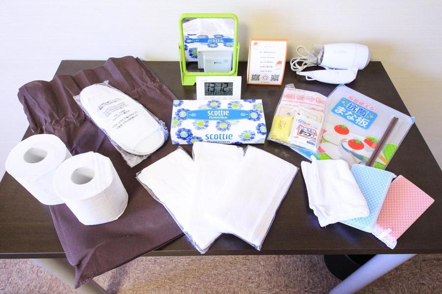 タオル、洗剤などご入居後すぐにお使いいただけるアメニティを設置