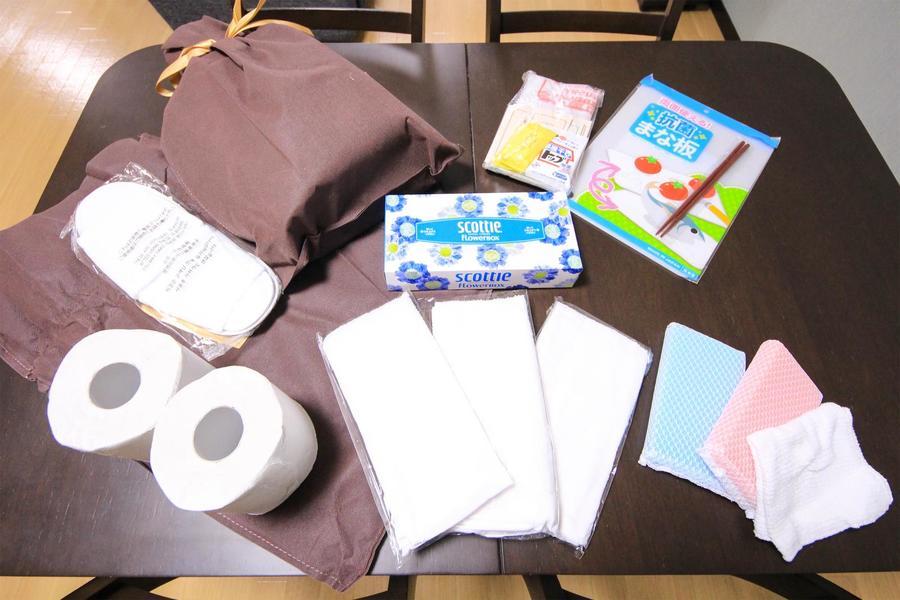 トイレットペーパーなどの日用品をアメニティとしてご用意しています