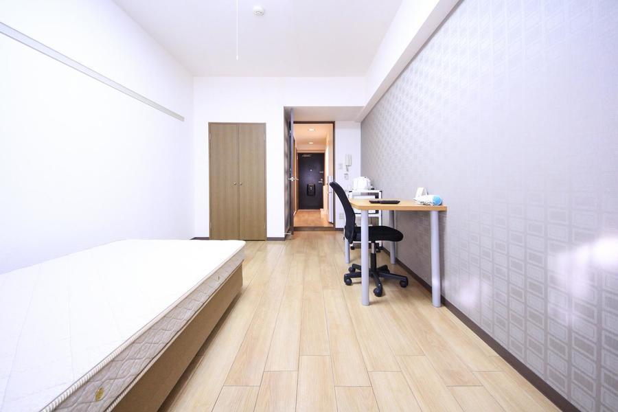 仕切り扉は来客時のプライバシー保護、お部屋の室温管理にご利用下さい
