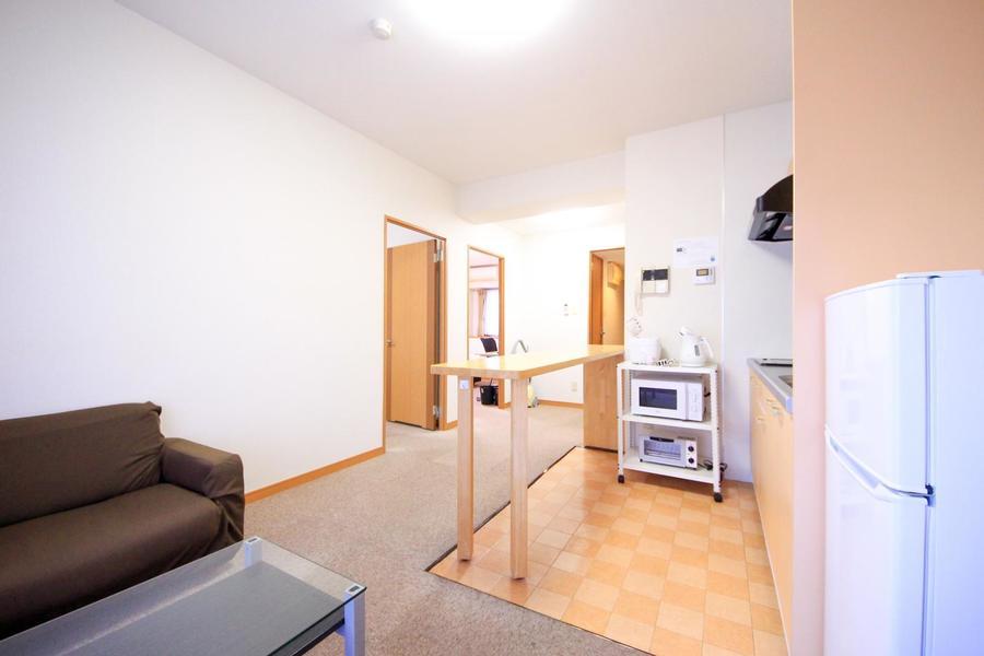 リビングからは各お部屋にアクセス可能。家族の顔が見えやすいつくりです
