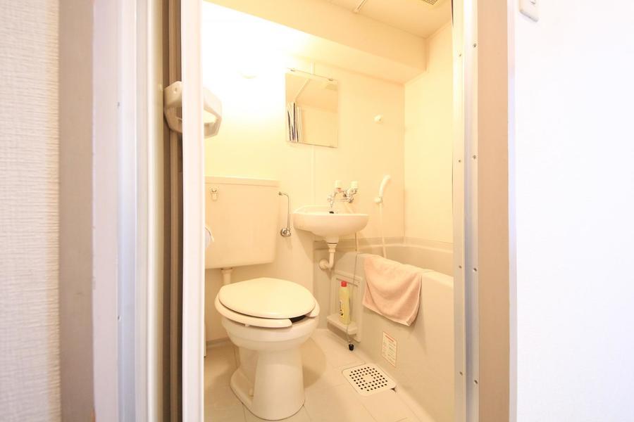 バス・トイレはお掃除の便利なユニットバスタイプ