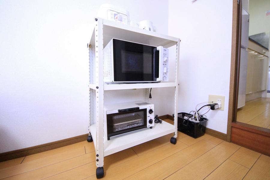 電子レンジ、炊飯器などキッチン家電類もご用意しています