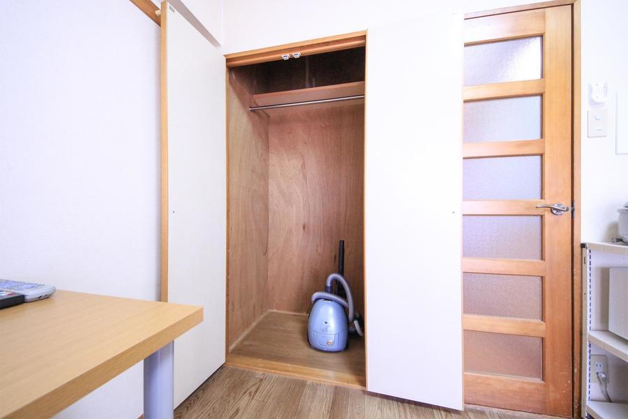 大きく高さのある収納。荷物がお部屋に溢れてしまう心配もありません