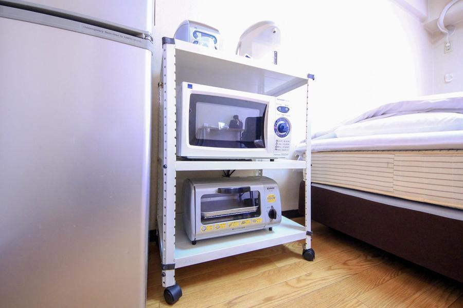 レンジ、トースターなどキッチン家電類もご用意しております