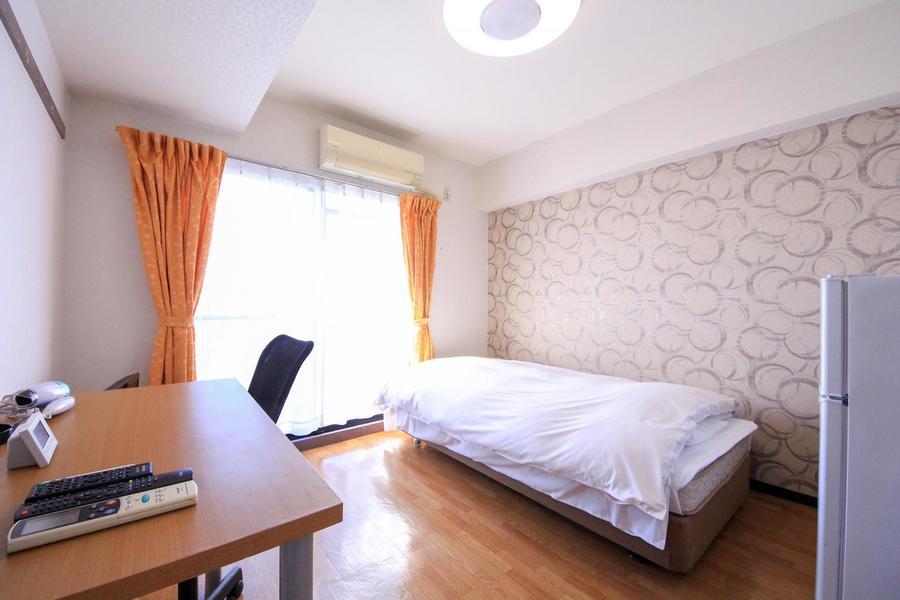 フローリング貼りのお部屋は7帖。広すぎず狭すぎず過ごしやすい大きさです