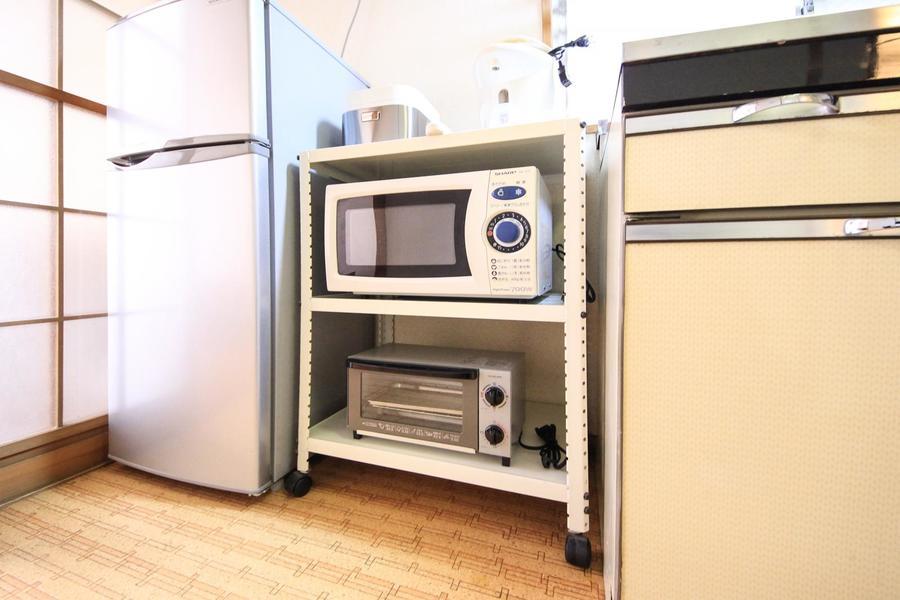 キッチンラックはキャスター付き移動可能です