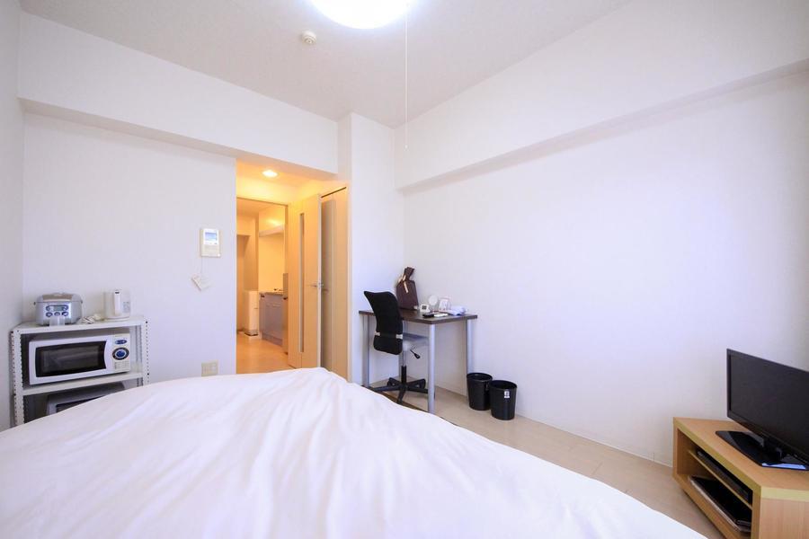 お部屋は7帖。狭すぎず広すぎずちょうど良い大きさです
