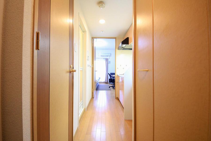 お部屋と廊下は一続きにすることで高級感と統一感をアップ