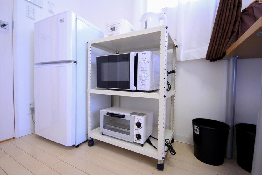 電子レンジや炊飯器などのキッチン家電は使いやすくワンセットに