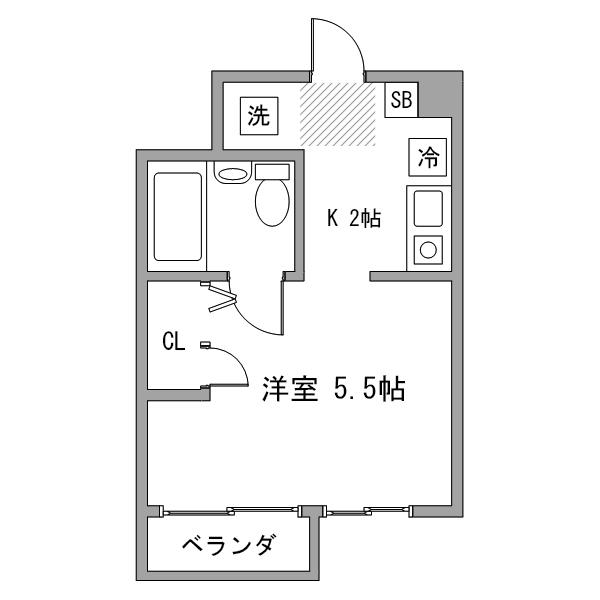 【タンキ割】ルーレント名駅24の間取り