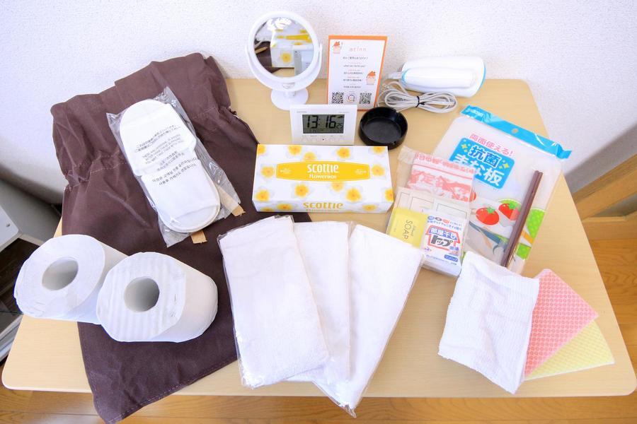 トイレットペーパーなど日用品をアメニティとしてご用意しています