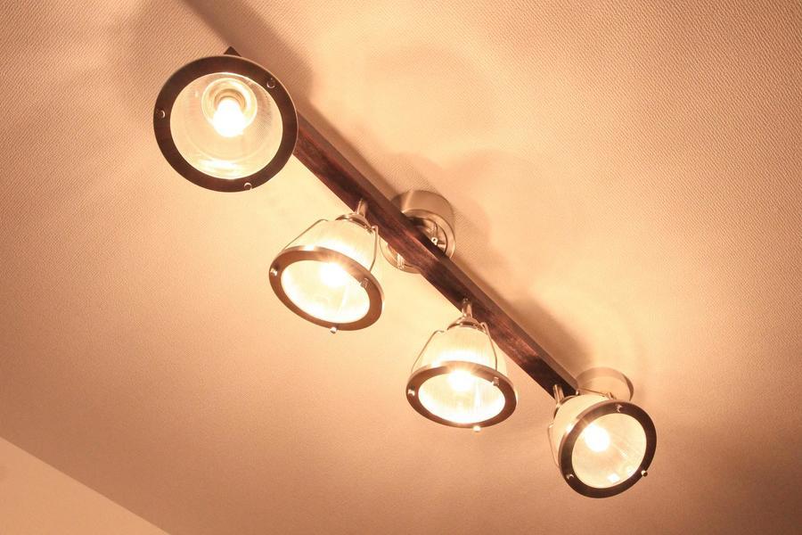 室内照明はシーリングスポットタイプ。優しい明かりが毎日の生活を彩ります