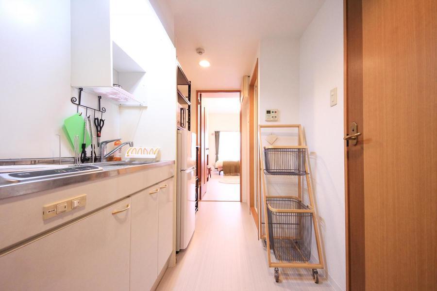 廊下もお部屋と同じフローリングにすることで統一感が生まれています