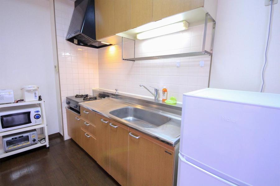 キッチンは大きめのシンクが特徴。お料理もはかどります